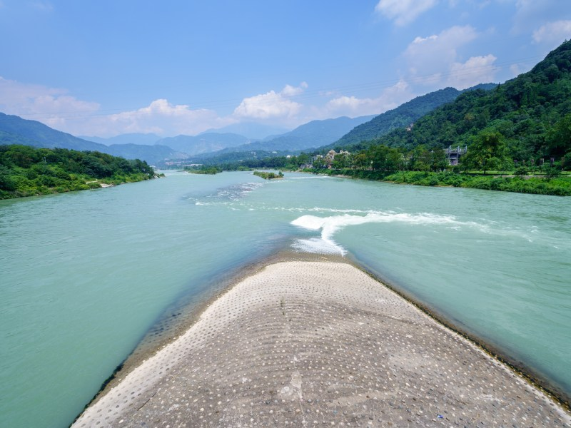 Landmark of Dujiangyan City, Sichuan province of  China.