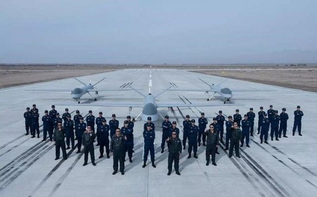 Members of the PLA drone brigade are former pilots with the air force. Photo: PLA Daily