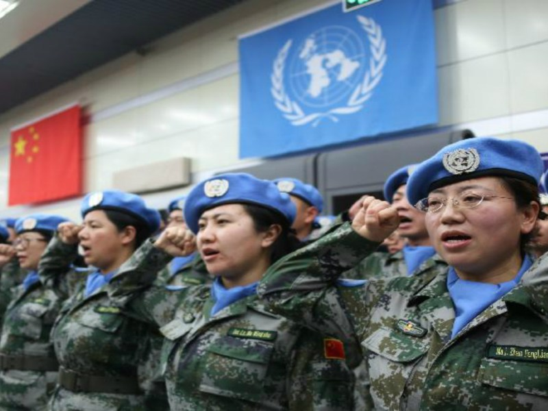 Beijing aims to dispatch some 8,000 more peacekeeping troops. Photo: Xinhua