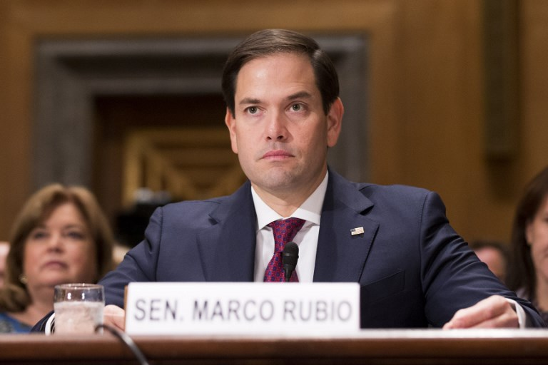 United States Senator Marco Rubio. Photo: CNP via AFP/Alex Edelman