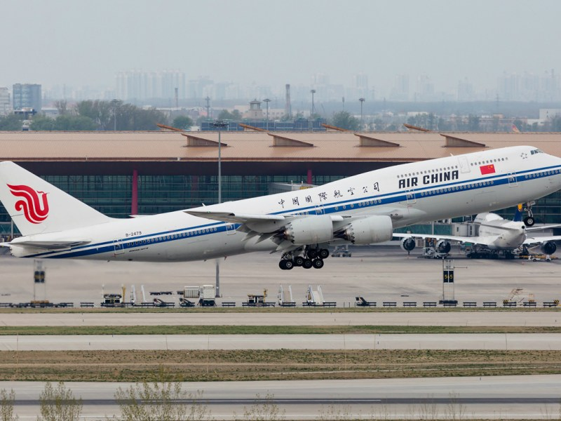 An Air China Boeing 747-8, rumored to be the nation's Air Force One, takes off at Beijing Capital International Airport. Photo: FLX41 / planespotters.net