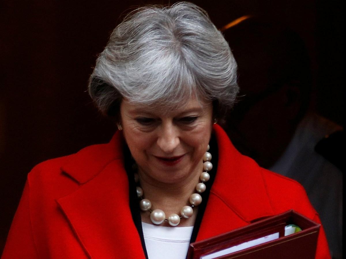 Britain's Prime Minister Theresa May leaves 10 Downing Street, London, November 22, 2017. Photo: Reuters/Peter Nicholls