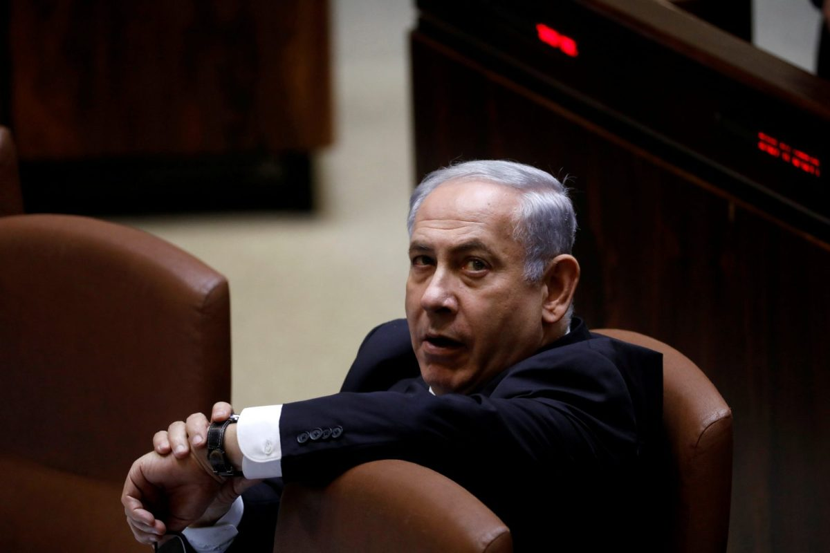 Israeli Prime Minister Benjamin Netanyahu attends a session of the Knesset, the Israeli parliament, in Jerusalem, on November 13, 2017. Photo: Reuters / Ronen Zvulun