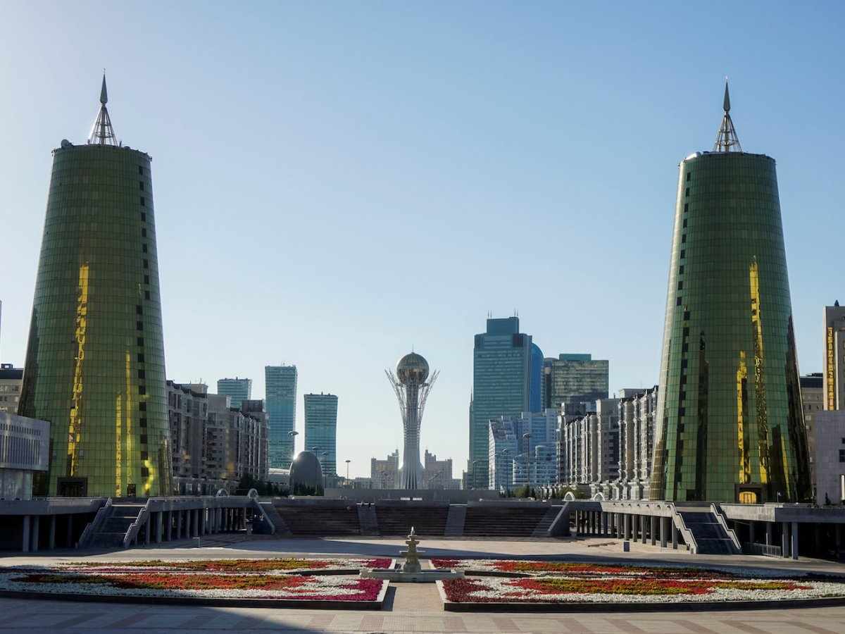 The Bayterek Tower (center) is a landmark of Astana, Kazakhstan. File Photo: Reuters / Shamil Zhumatov