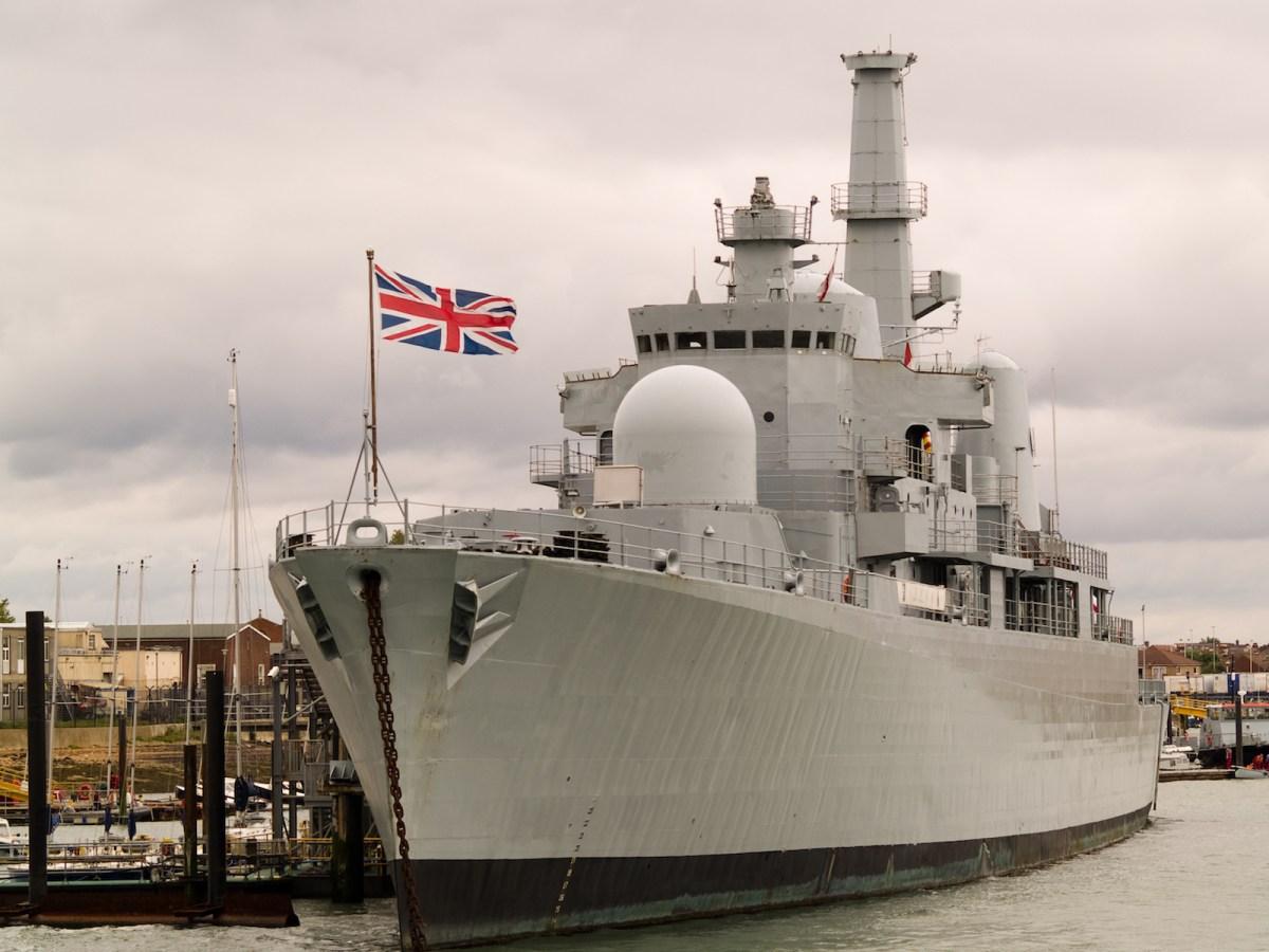British warship in dock. Photo: iStock