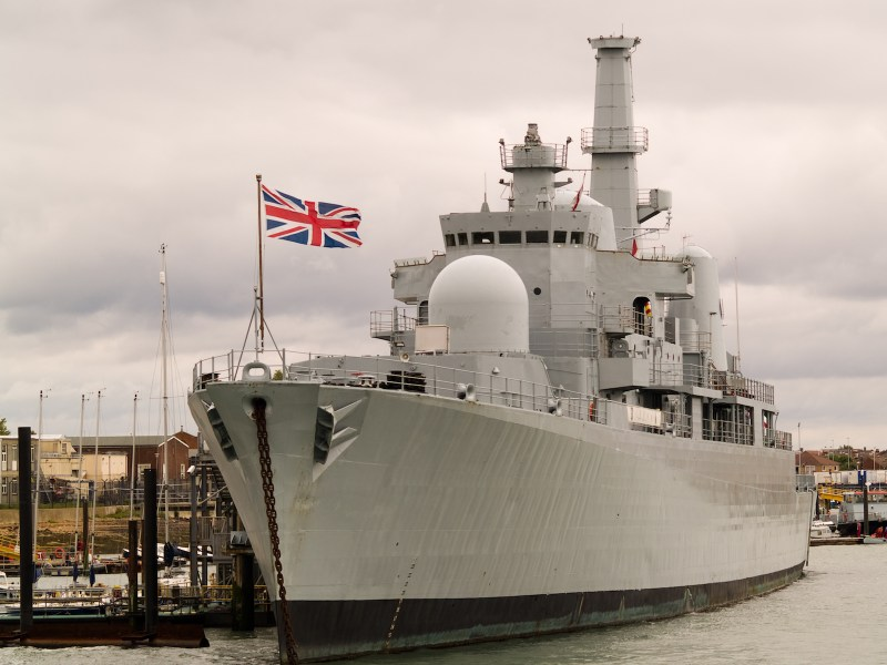 British warship in dock. Photo: iStock