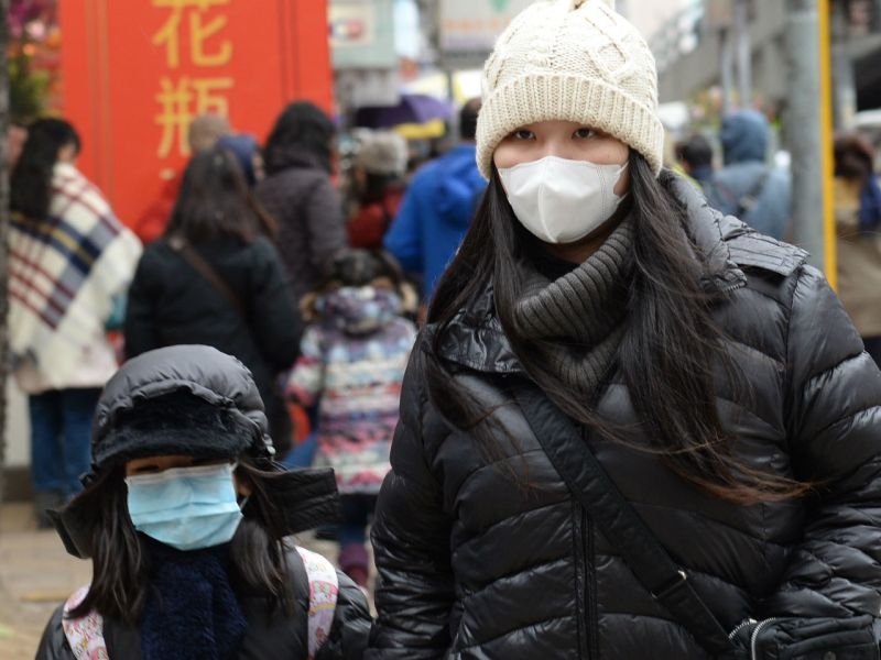 Most people in Hong Kong were rugged up for the latest cold spell. Photo: HK Government