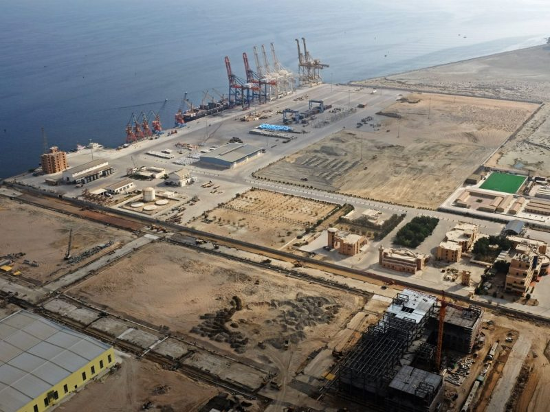 A general view of Gwadar port in Pakistan taken on October 4, 2017. Photo: Reuters/Drazen Jorgic