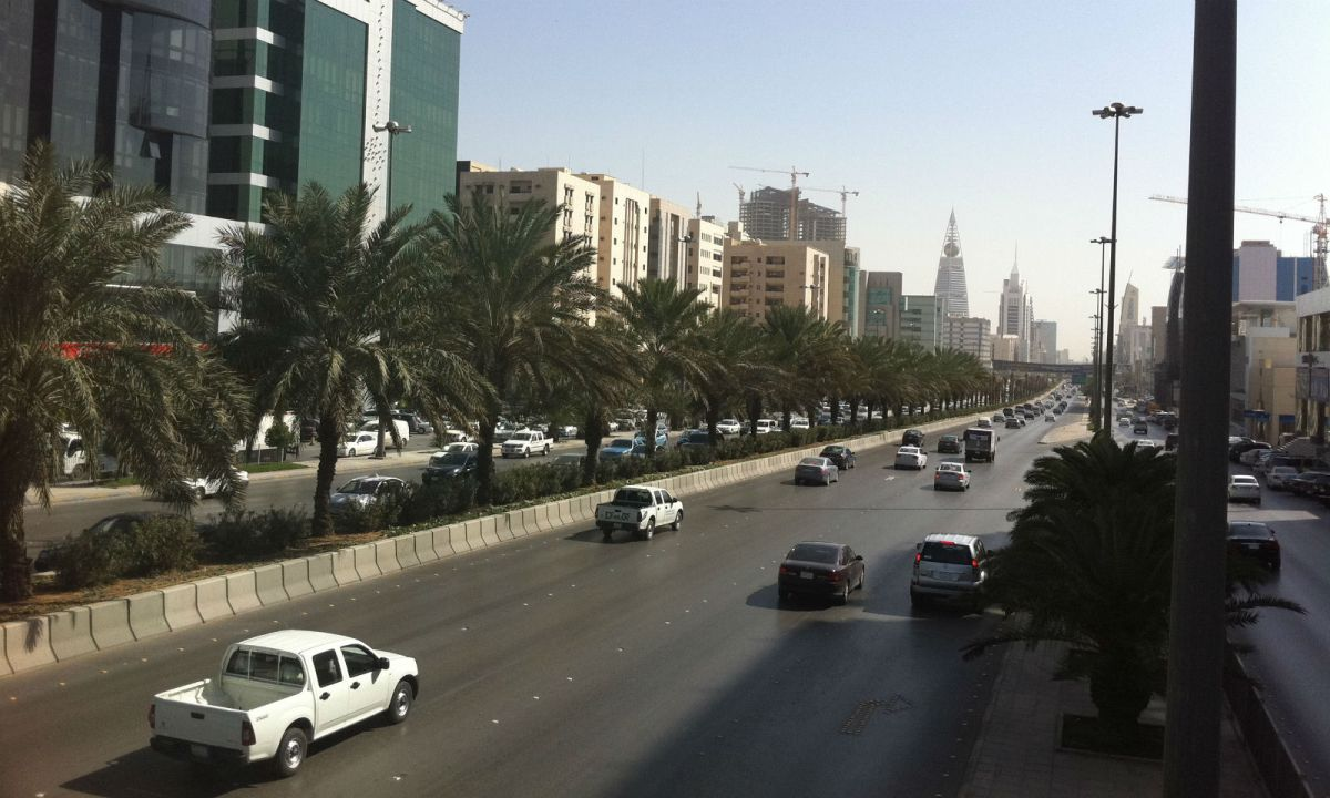 King Fahd Road in Riyadh, Saudi Arabia. Photo: Wikimedia Commons, Haitham Alfalah