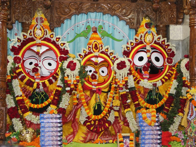 Lord Jagannath at the ISKCON temple, Bhubaneswar, Odisha. Photo: Wikimedia Commons
