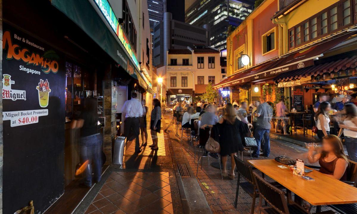 Mogambo Bar in Canton Street, Singapore. Photo: Google Maps