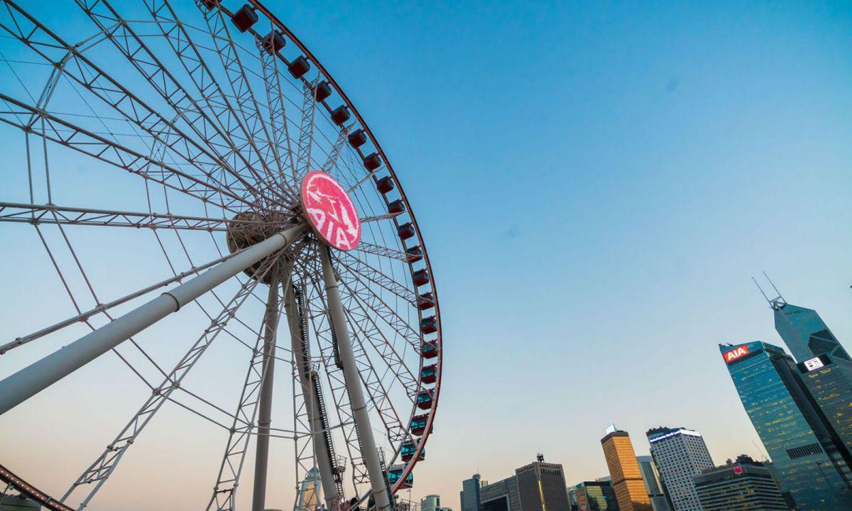 Hong Kong Observation Wheel. Photo: Facebook, AIA Vitality Park at Hong Kong Observation Wheel