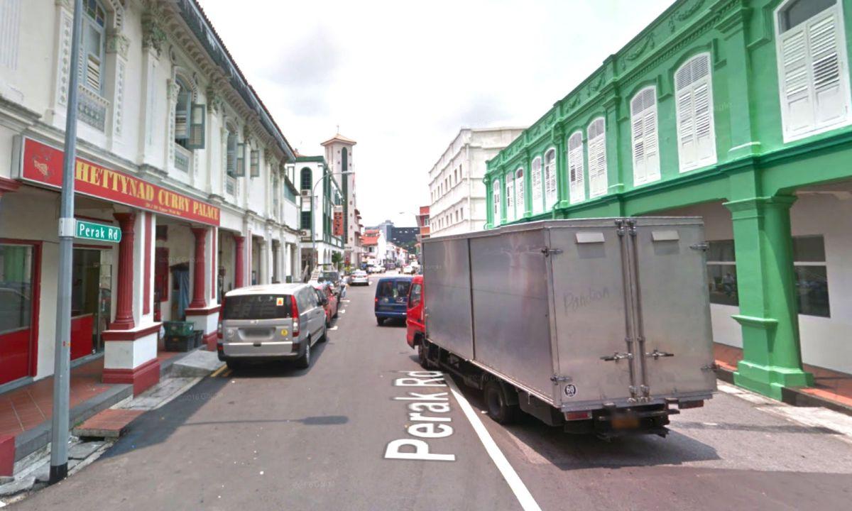Perak Road in Little India, Singapore. Photo: Google Maps