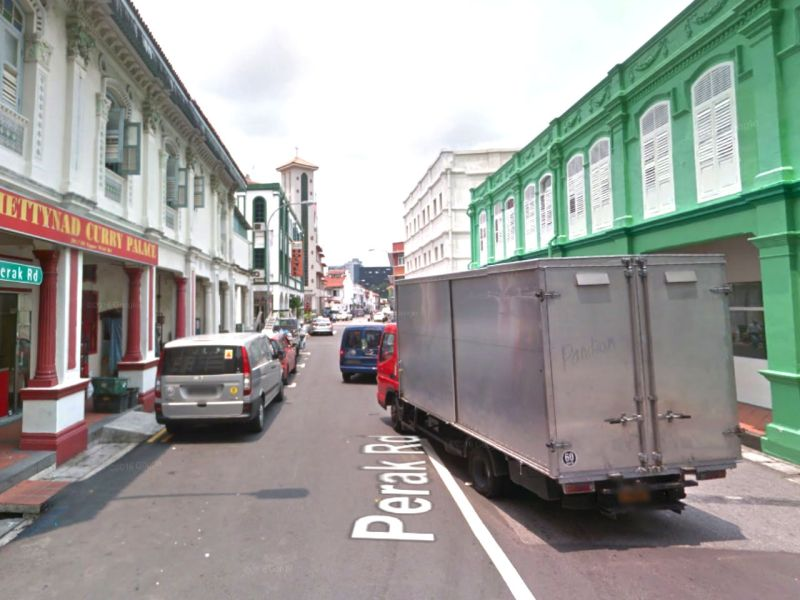 Perak Road in Little India, Singapore. Photo: Google Maps