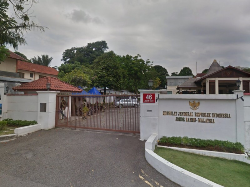 The Consulate General of the Republic of Indonesia in Johor Bahru, Malaysia. Photo: Google Maps