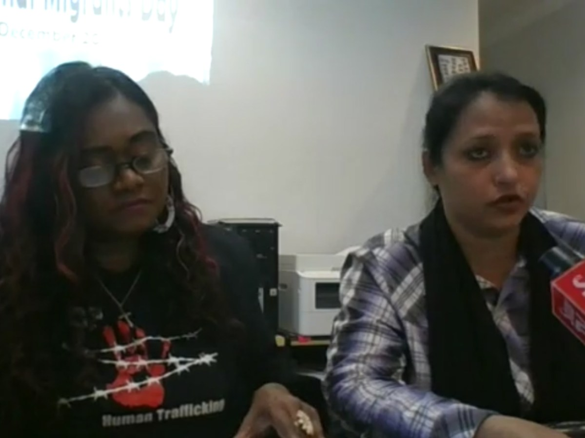 Directors of Tenaganita speak to the press on International Migrants Day. Photo: Facebook/ Tenaganita