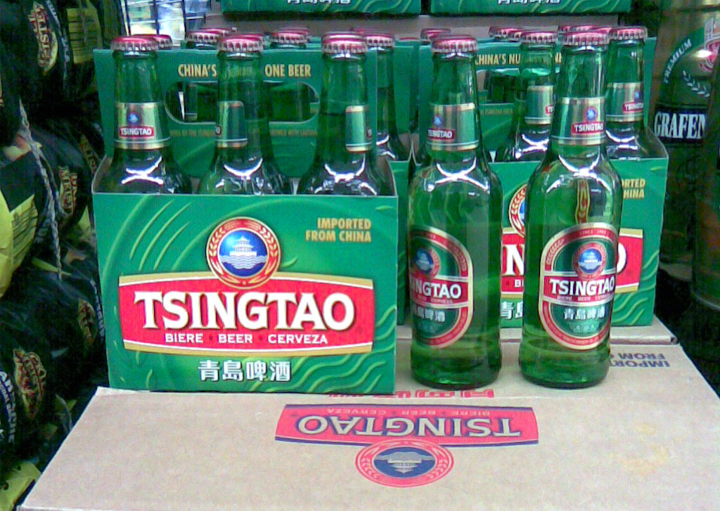 Tsingtao beer offered in the Czech Republic. Photo: Wikimedia Commons