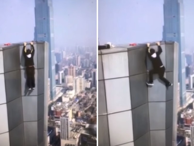 Wu Yongning fell from a high-rise building in Changsha on November 8. Photo: thepaper.cn