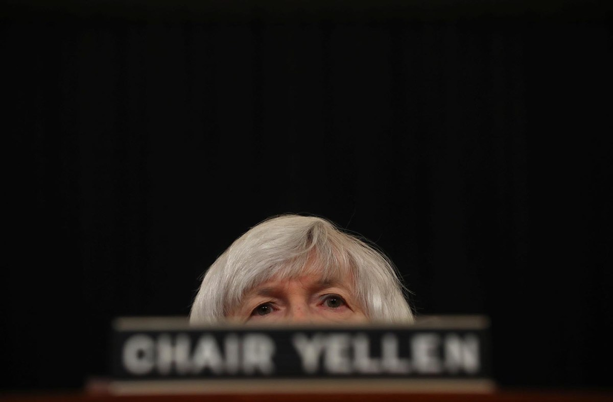 Federal Reserve Chair Janet Yellen testifies on the US economic outlook, before the Congressional Joint Economic Committee on Capitol Hill, in Washington, DC on November 29, 2017. Photo: Reuters / Carlos Barria