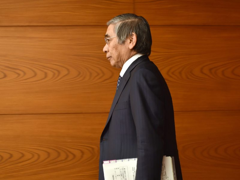 Bank of Japan Governor Haruhiko Kuroda. Photo: AFP / Kazuhiro Nogi