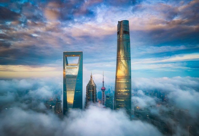 Lujiazui Financial District in Pudong, Shanghai. Photo: AFP