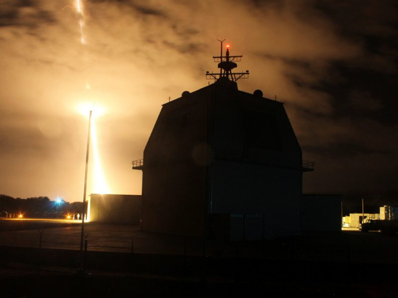 The Missile Defense Agency conducts the first intercept flight test of a land-based Aegis Ballistic Missile Defense weapon system from the Aegis Ashore Missile Defense Test Complex in Kauai, Hawaii. Photo: US Missile Defense Agency handout via Reuters/Leah Garton