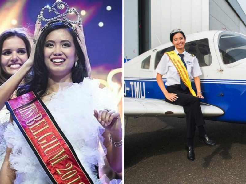 Angeline Flor Pua, 22, a student pilot, has been crowned Miss Belgium 2018. Photo: Instagram, Miss Belgium