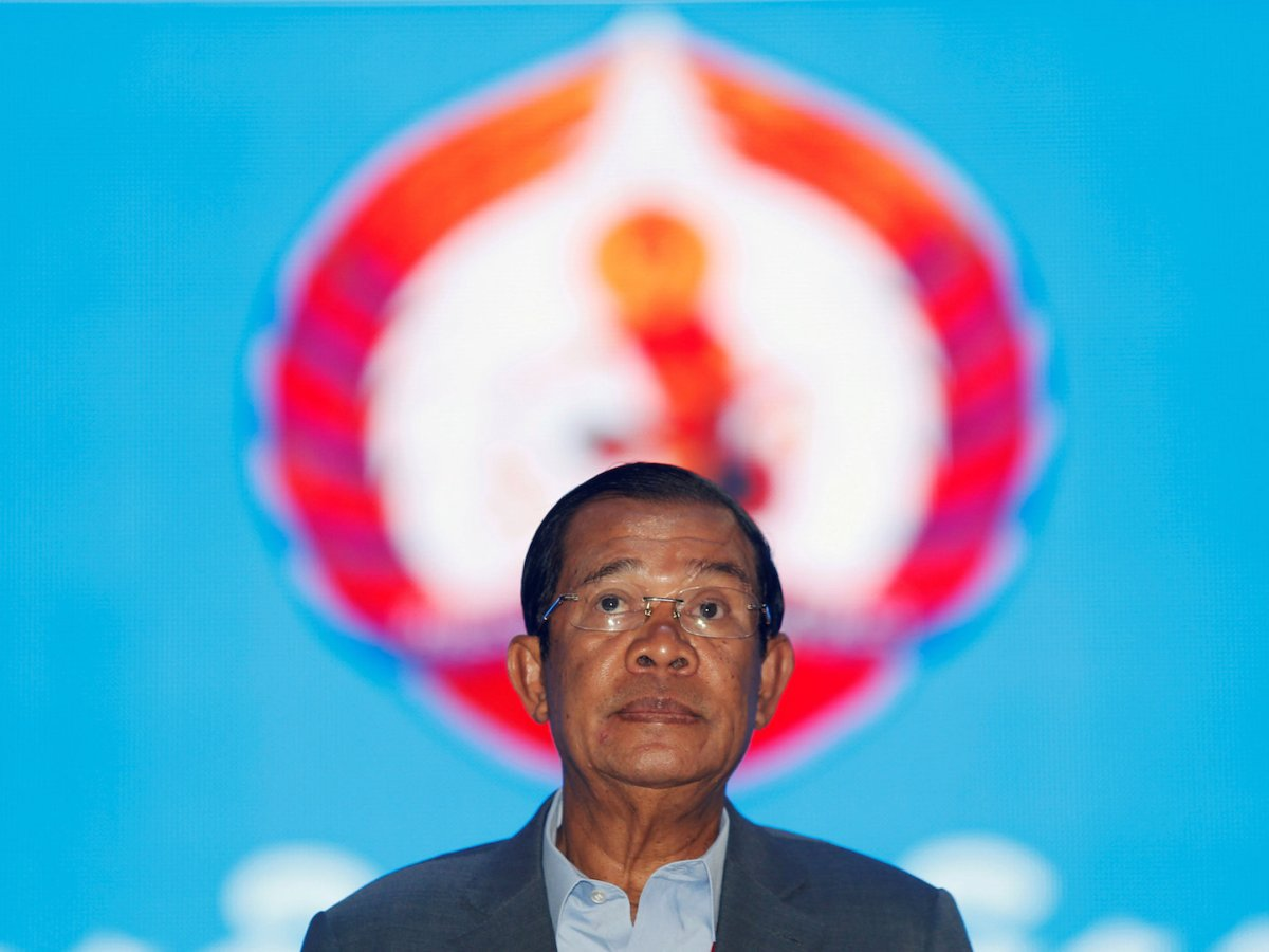 Cambodia's Prime Minister Hun Sen arrives to attend the Cambodian People's Party (CPP) congress in Phnom Penh, January 19, 2018. Photo: Reuters/Samrang Pring Photo