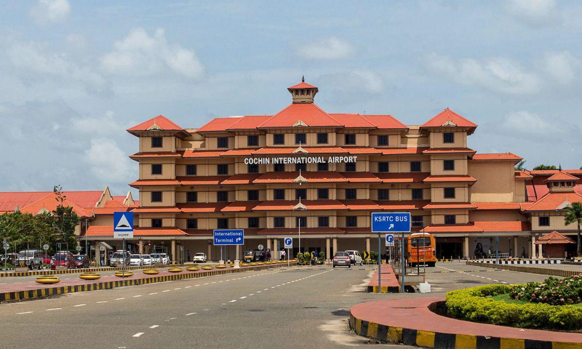 Cochin International Airport in Kochi, India. Photo: Wikimedia Commons, Ajaykumarkappukuttan001