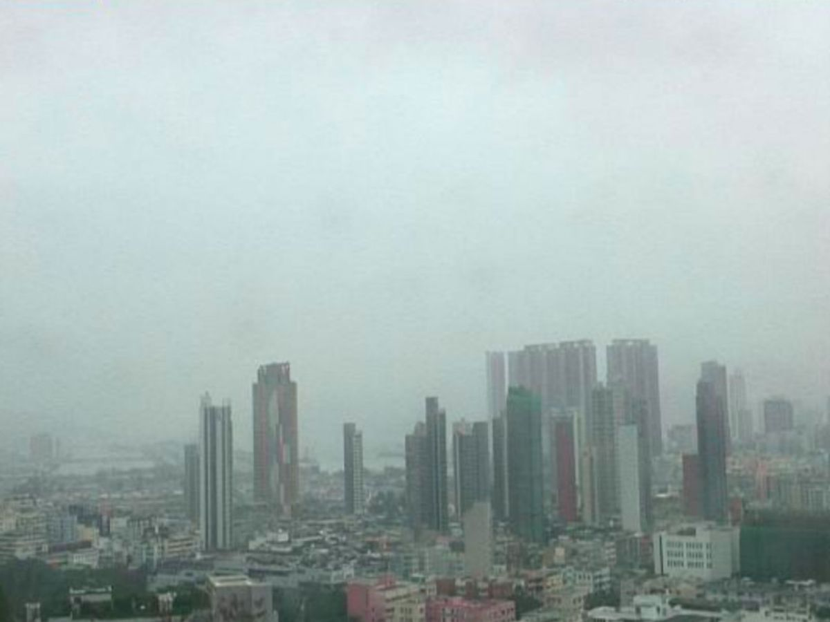 Cold air hovers over Kowloon City. Photo: The HK Observatory