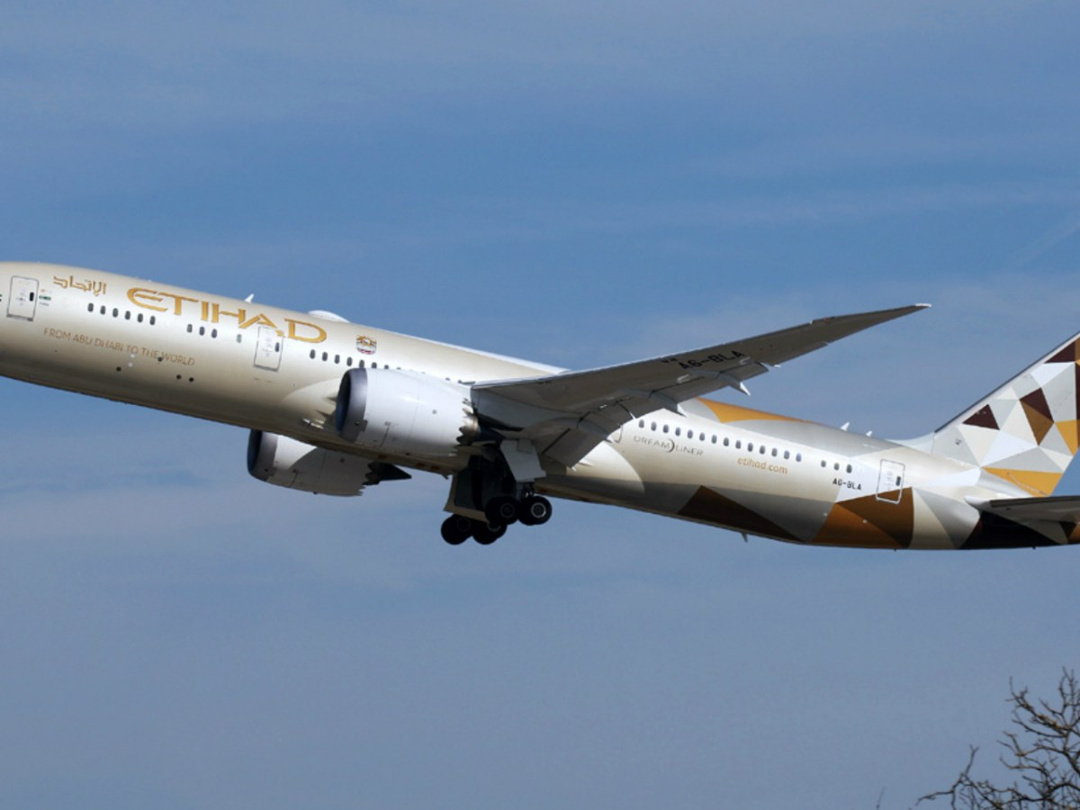 An Etihad Airways plane. Photo: Wikimedia Commons, Dura-Ace