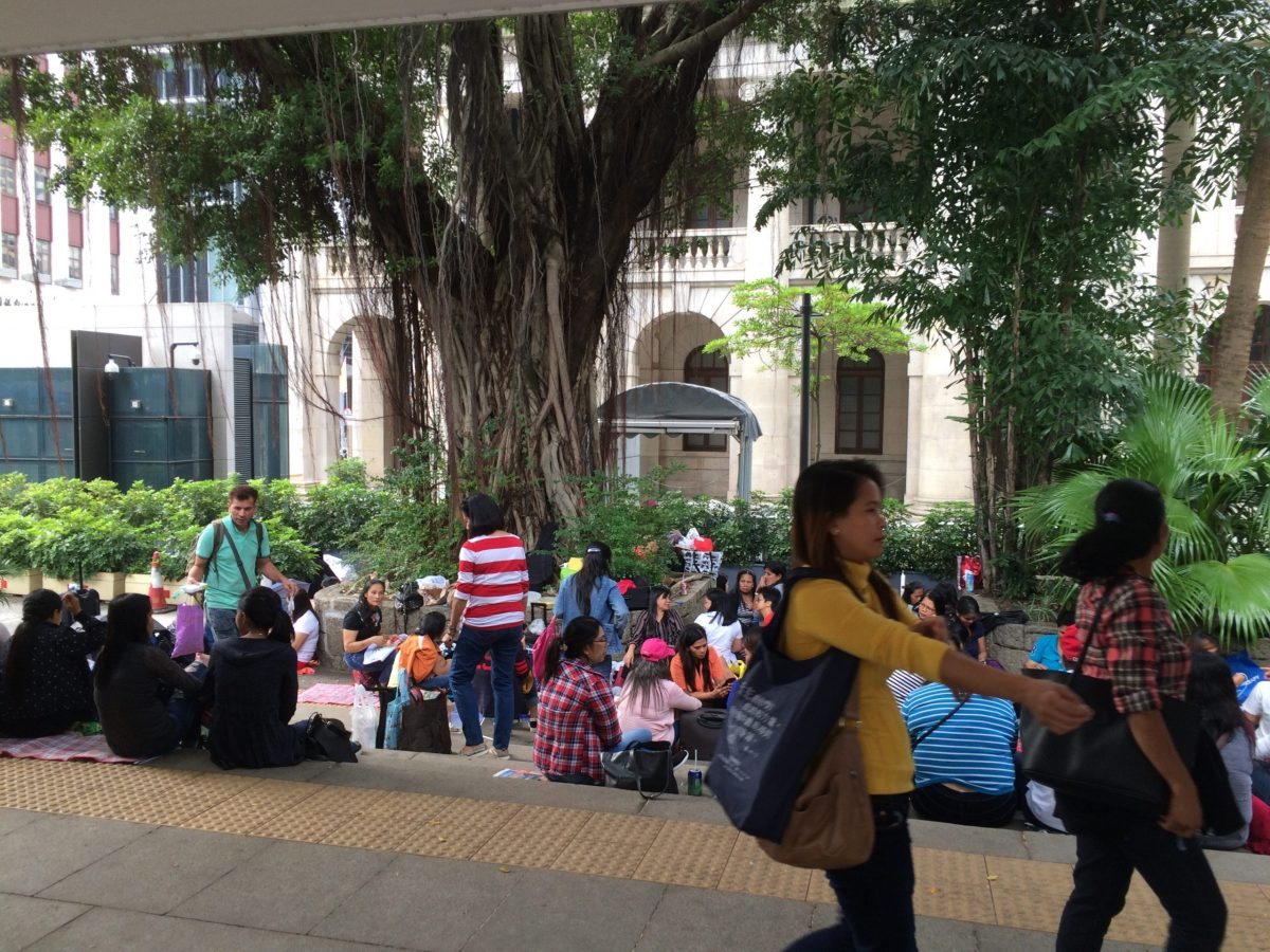 Filipino domestic workers in Hong Kong. Photo: Asia Times