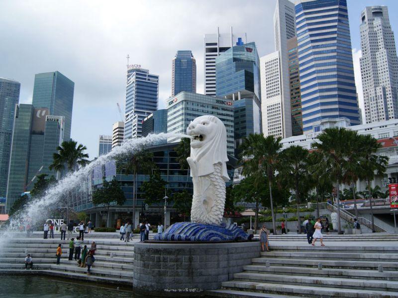 Merlion Statue in Singapore. Photo: Wikimedia Commons, Merlion444