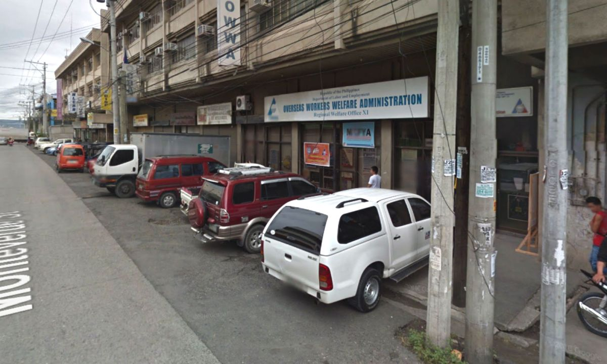 The Overseas Workers Welfare Administration's office in Davao in the Philippines. Photo: Google Maps