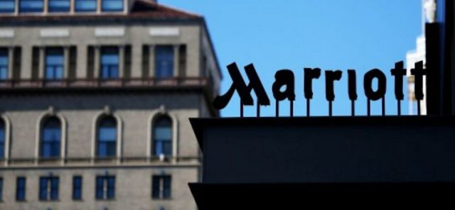 A Marriott sign is seen in Shanghai. The city's market regulator has launched an investigation after the company's blunder in which Hong Kong, Taiwan and Tibet were categorized as 'countries.' Photo: Marriott