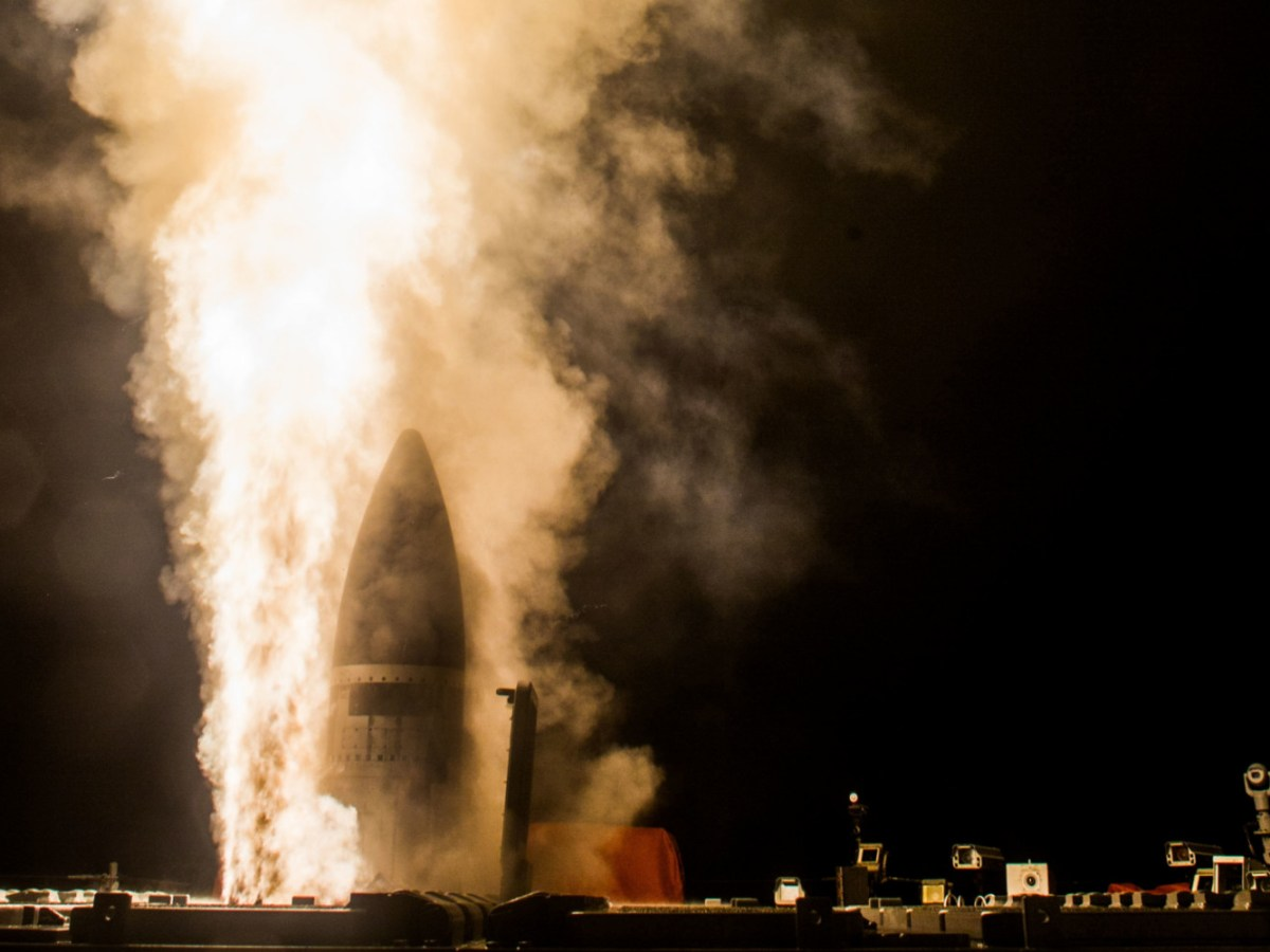 Image from a flight test conducted by the US and Japan early last year which resulted in the first intercept of a ballistic missile target using the Standard Missile-3 (SM-3) Block IIA. Photo: US Navy via AFP / Leah Garton