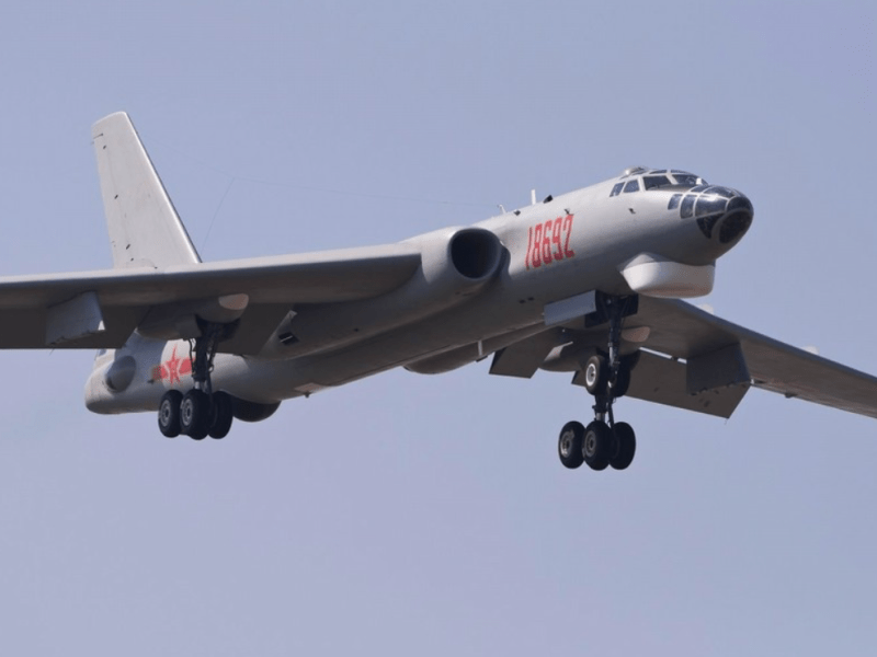 A file photo of an H-6G bomber. The plane now has a new role to play as a powerful electronic-warfare aircraft. Photo: Xinhua