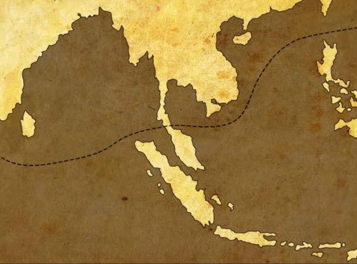 A map of the potential new East-West shipping route that would be opened by a potential Thai canal through the country's Kra isthmus. Image: Wikimedia