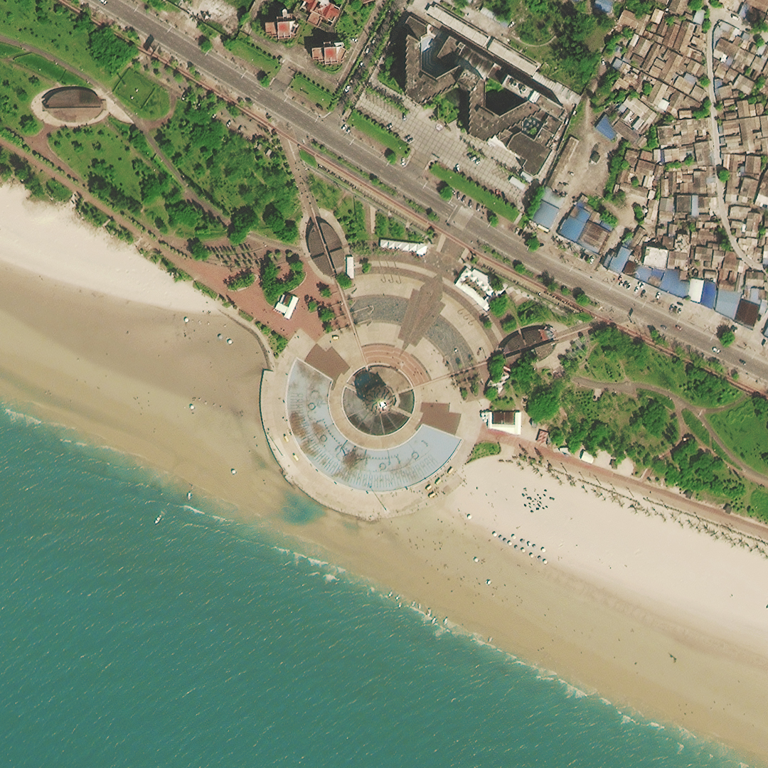 An image of a beach taken by China's latest imaging satellite SuperView-1. Photo: CASC