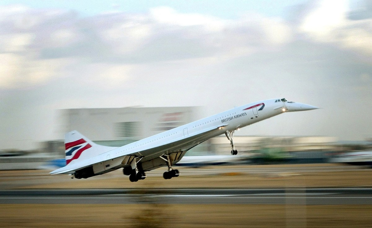 A file photo shows a British Airways Concorde passenger jet during take-off. Photo: Handout