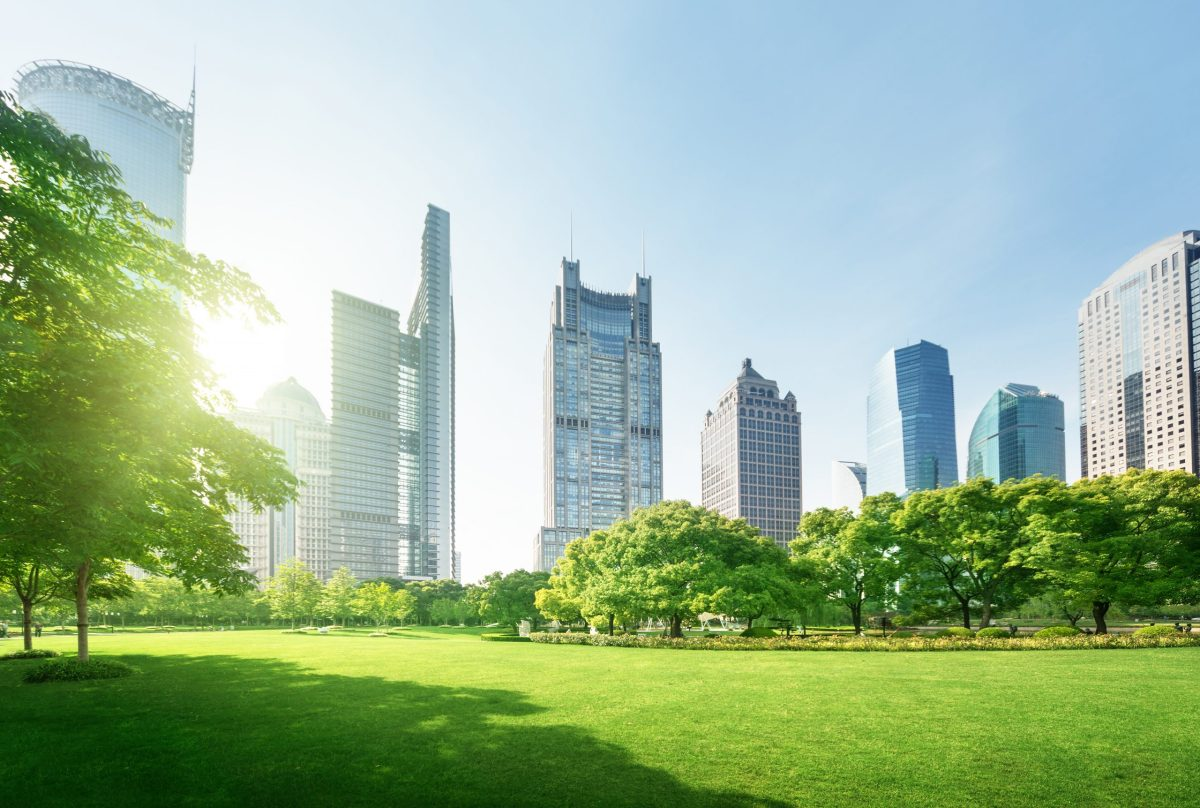 Park in Lujiazui financial center in Shanghai. Photo: iStock
