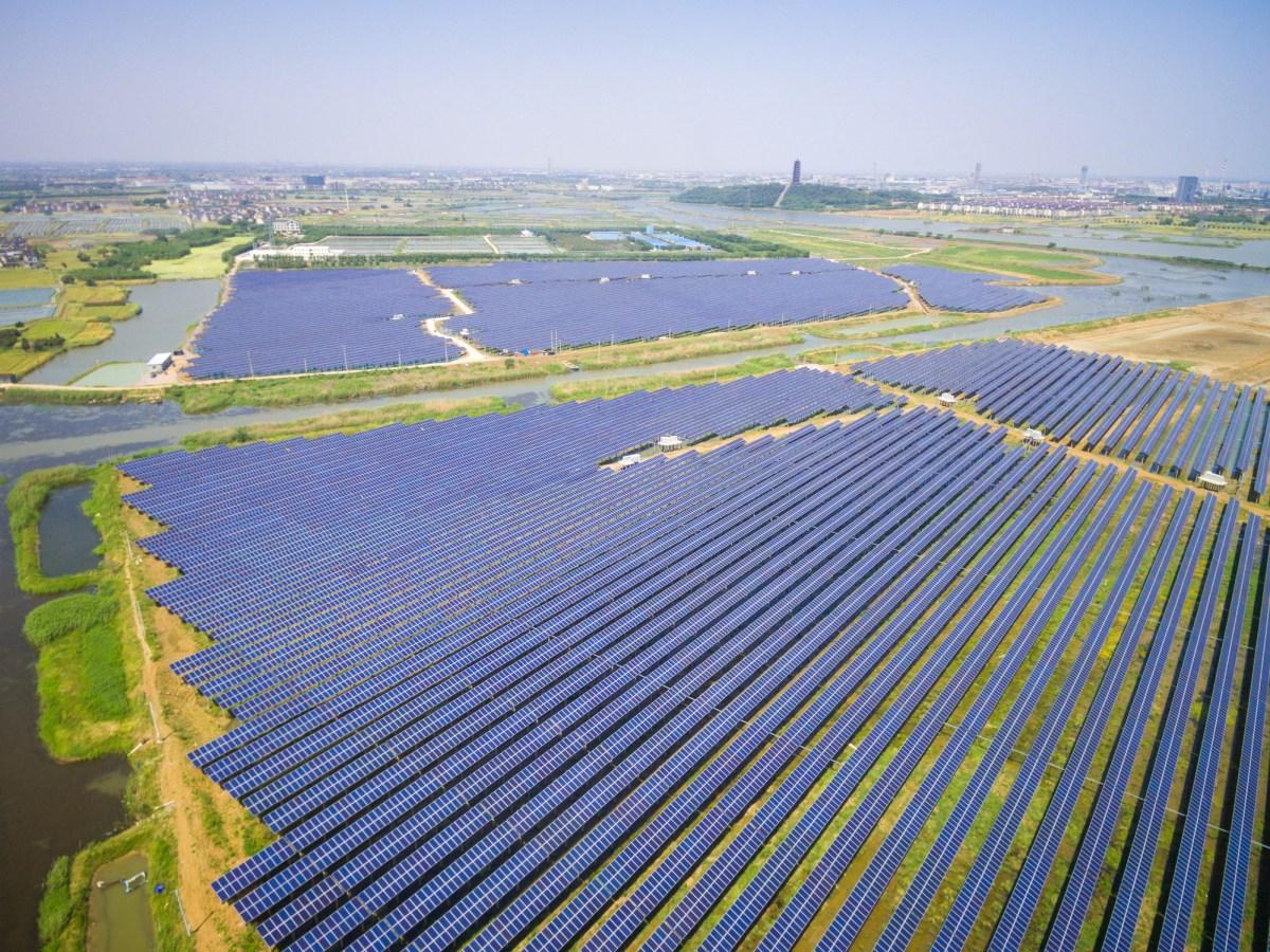 Solar power station in Jiangsu province, China. Photo: iStock