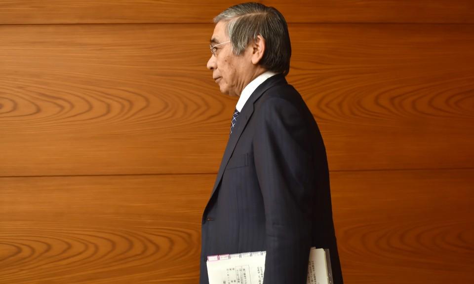日本央行行长黑田东彦。相片: AFP / Kazuhiro Nogi