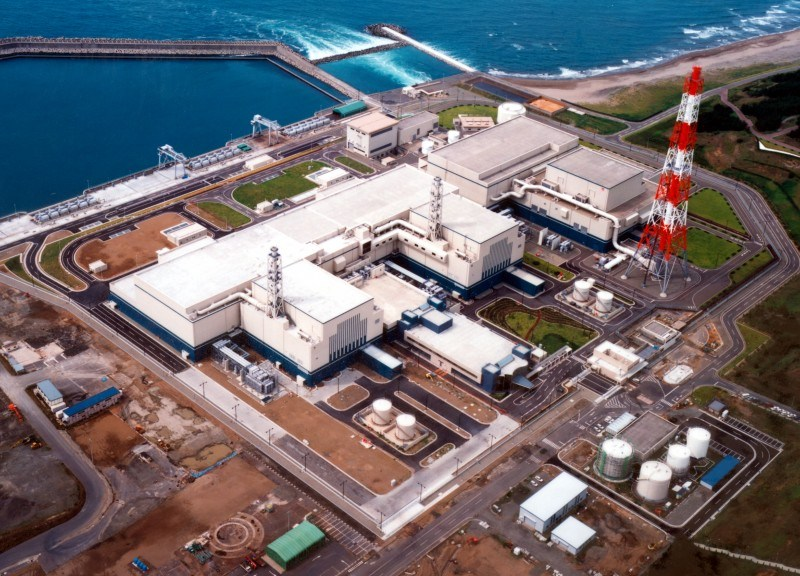柏崎刈羽的核能发电厂。相片:东京电力公司