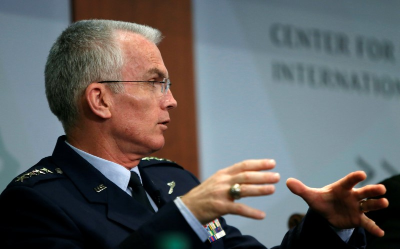 Vice Chairman of the Joint Chiefs of Staff, US Air Force General Paul Selva, speaks at the Center for Strategic and International Studies in 2016. Photo: ReutersS/Gary Cameron