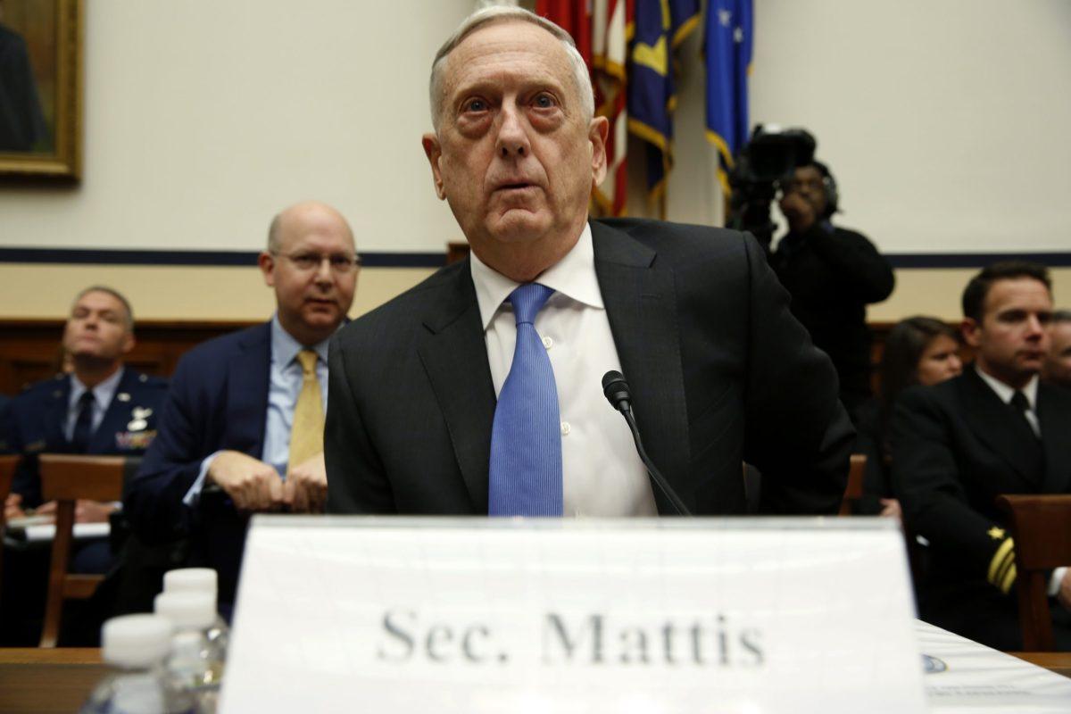 US Defense Secretary Jim Mattis testifies before the House Armed Services Committee. Photo: Reuters/Joshua Roberts