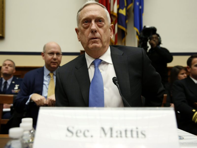 US Defense Secretary Jim Mattis testifies before the House Armed Services Committee. Photo: Reuters/Joshua Roberts