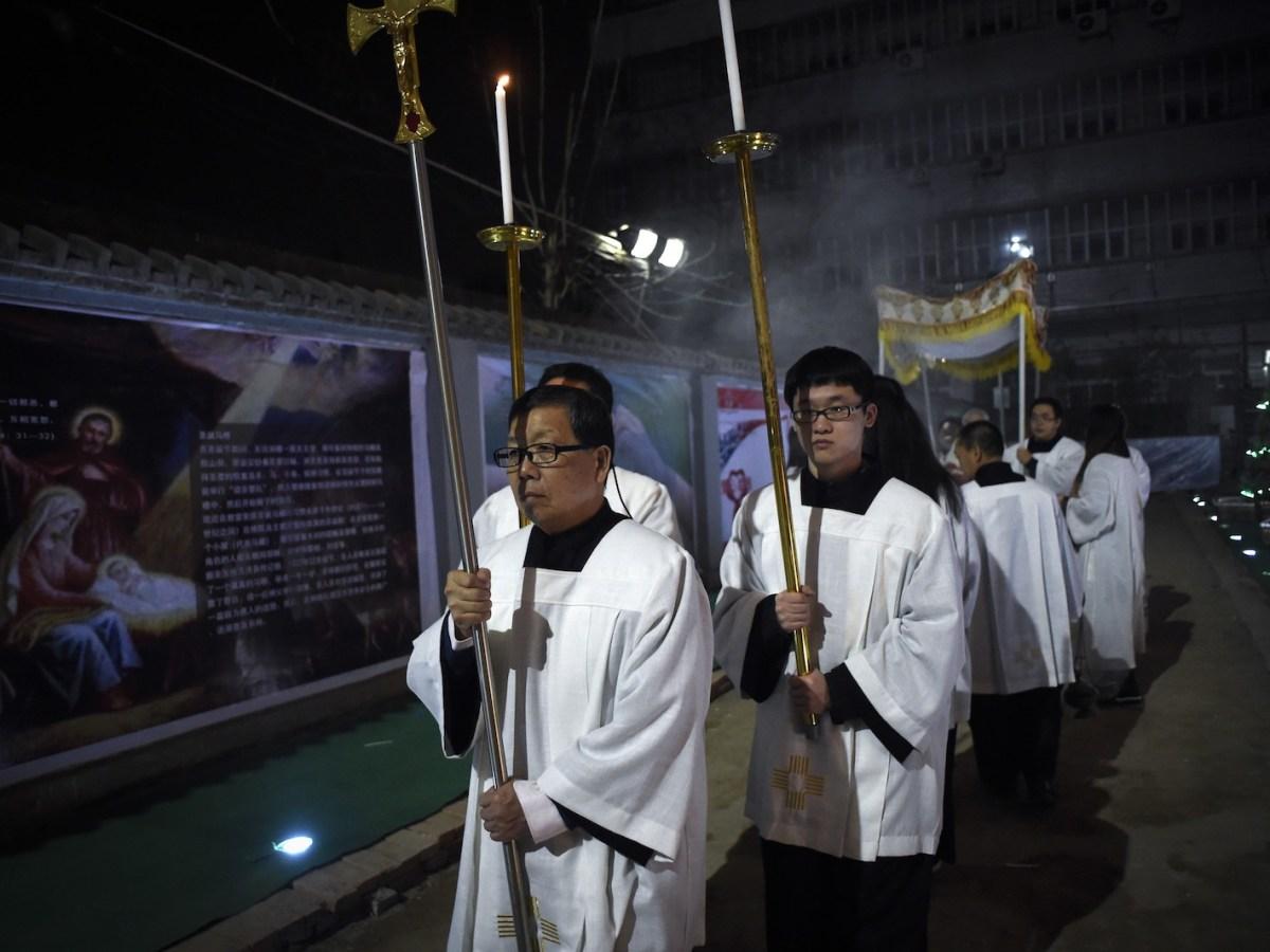 Inside a Catholic church in Beijing. Photo: AFP / Wang Zhao