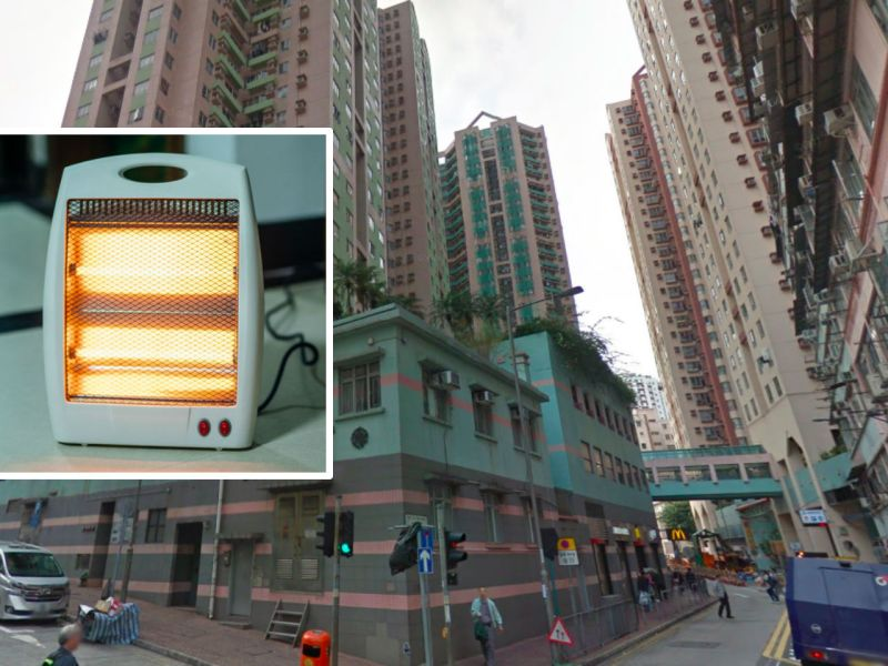 Flat gutted after electrical heater catches fire in North Point 20Feb18