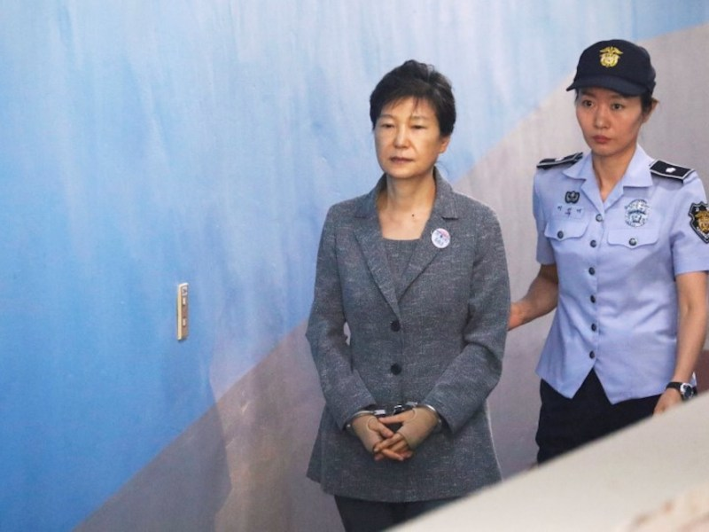 Former South Korean President Park Geun-hye arrives at a court in Seoul last year. Photo: Reuters/Kim Hong-Ji